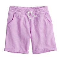 Girls 4-10 Jumping Beans® Roll-Cuff French Terry Bermuda Shorts