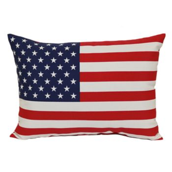 SONOMA Goods for Life? American Flag Indoor Outdoor Oblong Throw Pillow