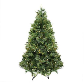 Northlight 6.5-ft. Warm Clear Pre-Lit Cashmere Pine Artificial Christmas Tree