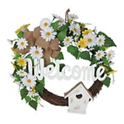 Celebrate Easter Together 'Welcome' Artificial Flower Wreath
