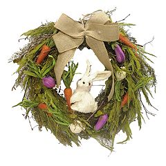 Celebrate Easter Together Sisal Bunny Wreath
