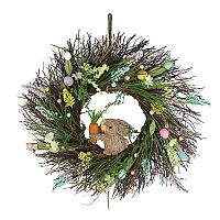 Celebrate Easter Together Artificial Egg & Bunny Wreath