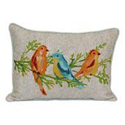 SONOMA Goods for Life™ Watercolor Bird Indoor Outdoor Oblong Throw Pillow