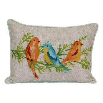 SONOMA Goods for Life? Watercolor Bird Indoor Outdoor Oblong Throw Pillow