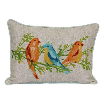 Sonoma Goods For Life Watercolor Bird Indoor Outdoor