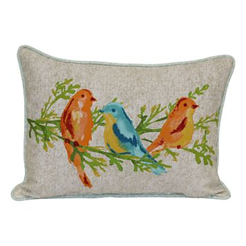 SONOMA Goods for Life™ Watercolor Bird Indoor Outdoor Oblong Throw Pillow