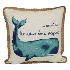 SONOMA Goods for Life? Adventure Whale Indoor Outdoor Throw Pillow