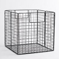 Linon Folding Metal Storage Basket
