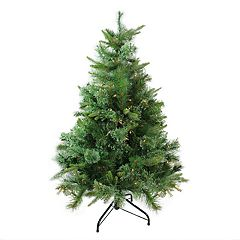 Northlight 4.5-ft. Clear Pre-Lit Cashmere Pine Artificial Christmas Tree