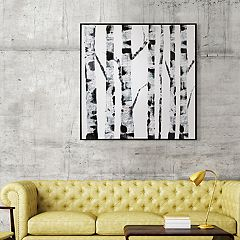 Artissimo Designs White Birch Canvas Wall Art