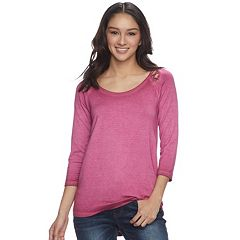 Juniors' SO® High-Low Raglan Tee