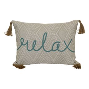 SONOMA Goods for Life? ''Relax'' Indoor Outdoor Oblong Throw Pillow