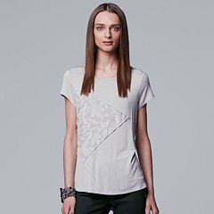 Women's Simply Vera Vera Wang Pieced Lace Inset Tee