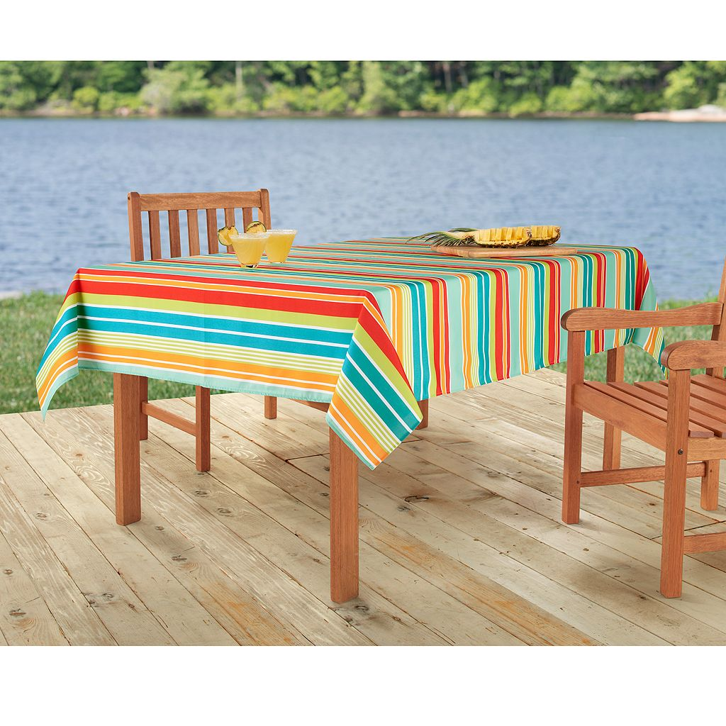 Celebrate Summer Together Striped Tablecloth