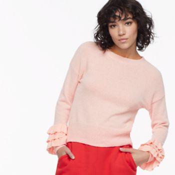 k/lab Tiered Ruffled Sweater