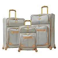 Olympia Chamonix 3 pc Expandable Spinner Luggage Set