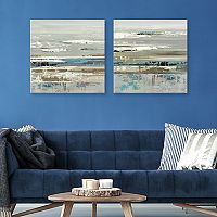 Artissimo Designs Eternal Horizon I Canvas Wall Art 2 pc Set