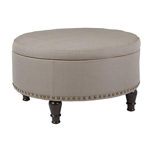 Bassett Furniture Augusta Ga: INSPIRED By Bassett Augusta Round Storage Ottoman