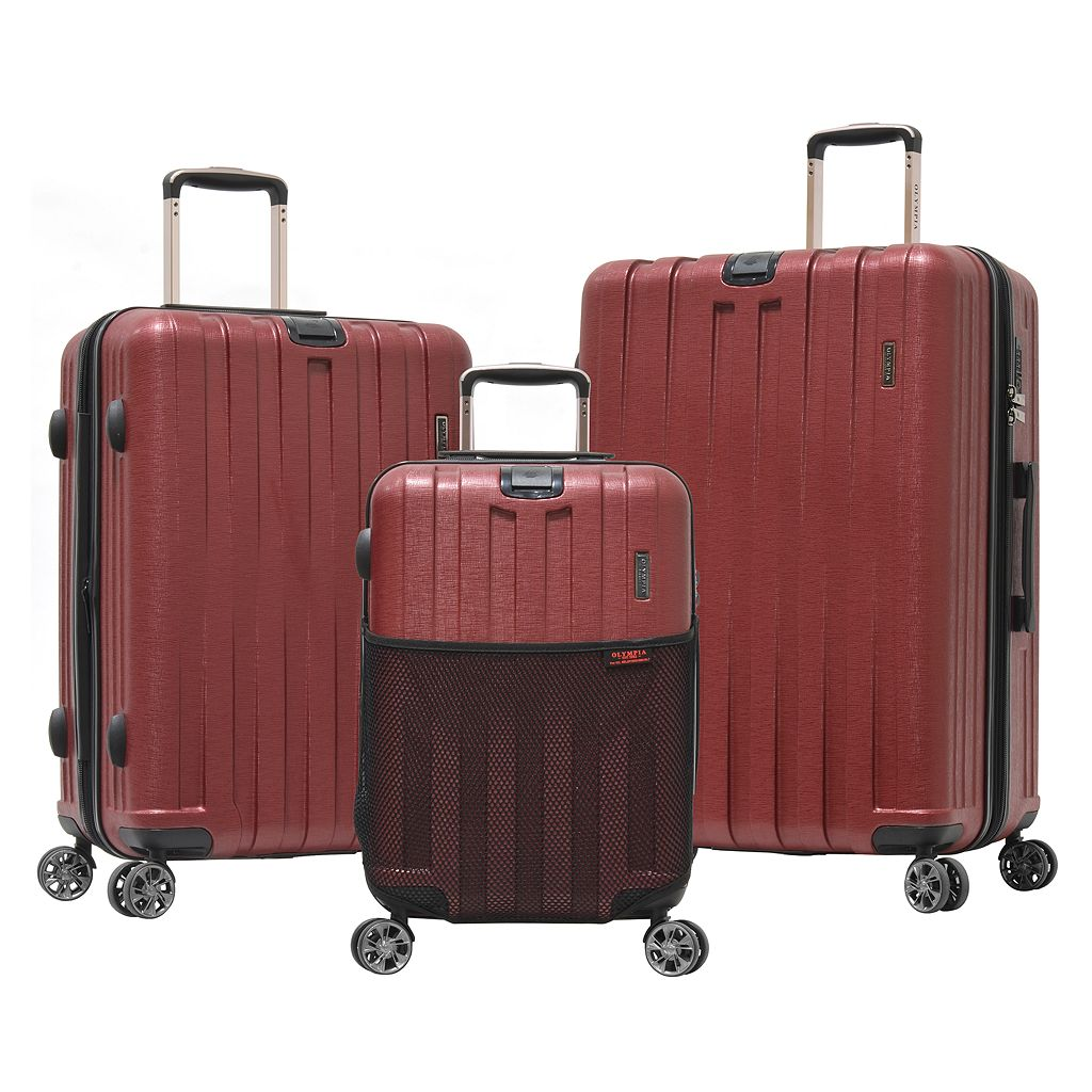 Olympia 3-pc. Sidewinder Expandable Spinner Luggage Set