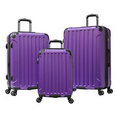 Olympia Whistler 3 pc Expandable Spinner Luggage Set