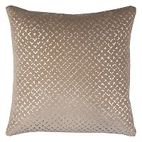 Rizzy Home Geometric Velvet Throw Pillow