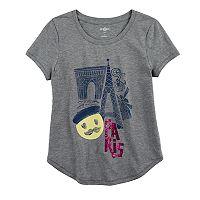 Girls 7-16 & Plus Size SO® Curve Hem Shiny Graphic Tee