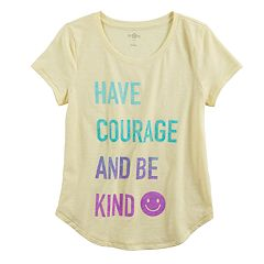 Girls 7-16 & Plus Size SO® Curve Hem Shiny Graphic Tee