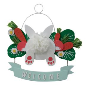 """Celebrate Easter Together Bunny """"Welcome"""" Wall Decor"""