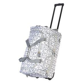 Olympia Printed Wheeled Duffel Bag