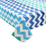 Celebrate Summer Together Vinyl Chevron Tablecloth