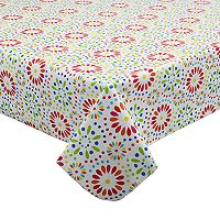 Celebrate Summer Together Vinyl Medallion Tablecloth