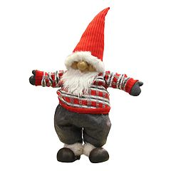 Northlight 28 in Faux-Fur Standing Santa Gnome Christmas Decor