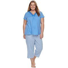 Plus Size Croft & Barrow® Pajamas: Island Getaway Lace Tee & Capris PJ Set