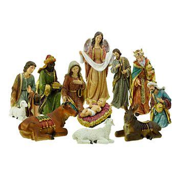 Northlight Traditional Nativity Scene Christmas Decor 11-piece Set