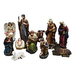 Northlight Nativity Scene Christmas Decor 11 pc Set