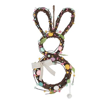 Celebrate Easter Together Light-Up Artificial Egg Bunny Wall Decor