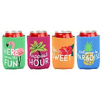 Celebrate Summer Together Tropical Can Cooler 4-pack