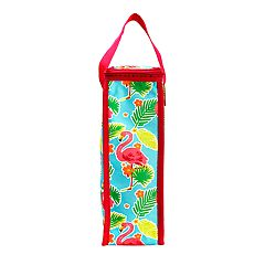 Celebrate Summer Together Thermal Flamingo Wine Bag