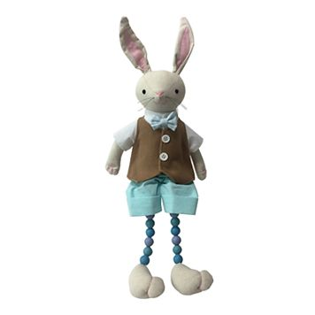 Celebrate Easter Together Dangle Legs Ivory Bunny Table Decor