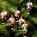 Northlight Nutcracker Christmas Ornament 6-piece Set