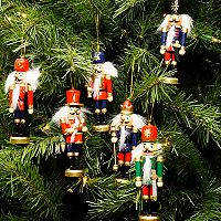 Northlight Nutcracker Christmas Ornament 6 pc Set
