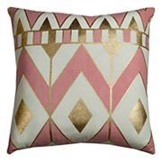 Rizzy Home Rachel Kate Geometric Chevron Throw Pillow