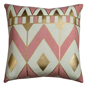 Rizzy Home Rachel Kate Geometric Chevron Throw Pillow