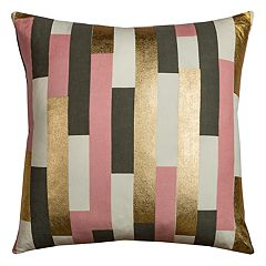 Rizzy Home Rachel Kate Geometric Stripe Throw Pillow