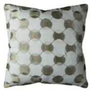 Rizzy Home Geometric Circles Throw Pillow