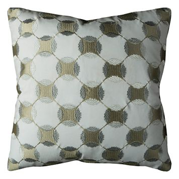Rizzy Home Geometric Circles Throw Pillow