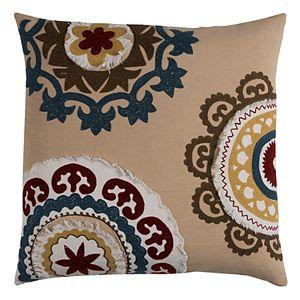 Rizzy Home Medallion Throw Pillow