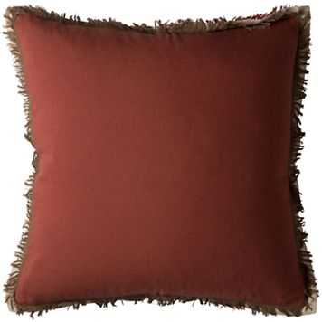 Rizzy Home Frayed Throw Pillow