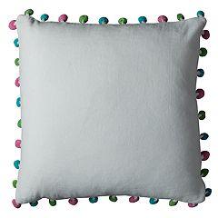 Rizzy Home Colorful Pom-Pom Throw Pillow