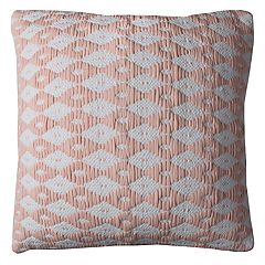 Rizzy Home Diamond Pattern Throw Pillow